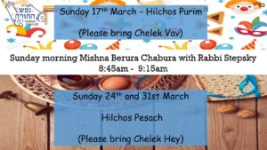Sunday Morning Mishna Berura Chabura with Rabbi Stepsky