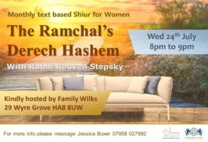 The Ramchal's Derech Hashem with Rabbi Stepsky @ Edgware