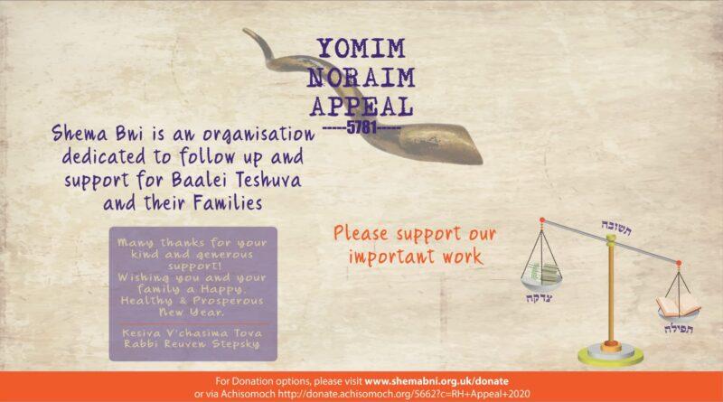 YOMIM NORAIM APPEAL