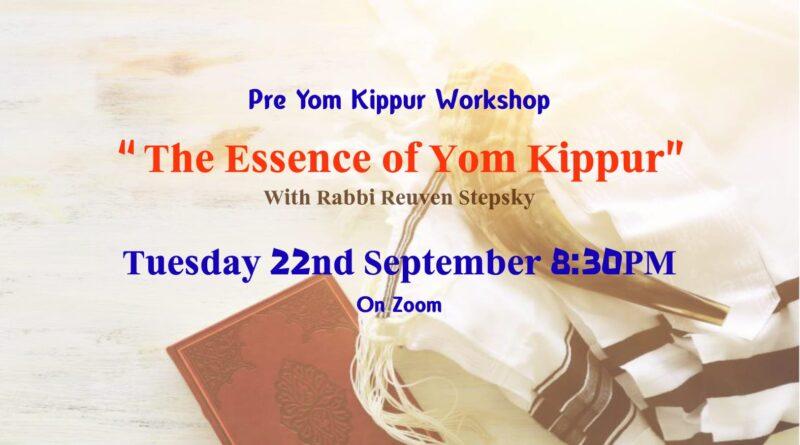 Pre Yom Kippur Workshop