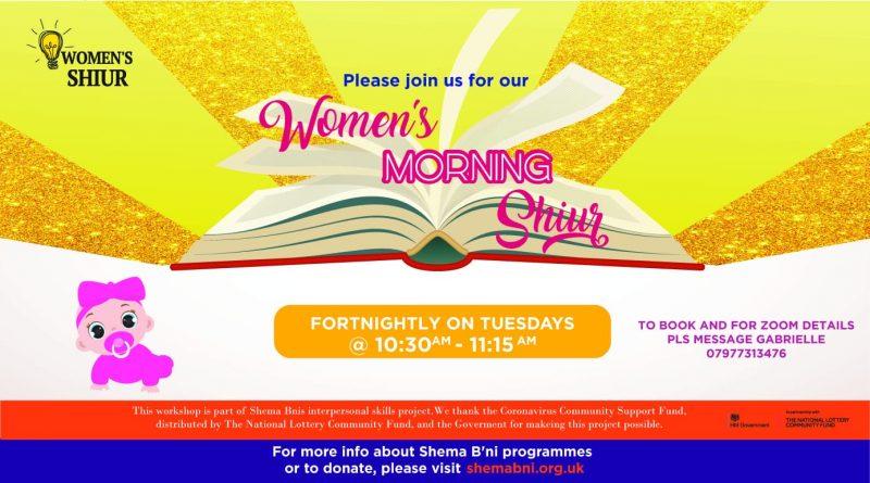 Women's Morning Shiur